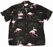ORIGINAL HAWAIIHEMD - FLAMINGO BLACK - PARADISE FOUND