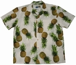 Original Hawaiihemd - Maui Pineapple - Weiss - Waimea Casual Modell: WCMPI-white